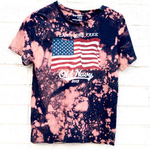 Tie Dyed Tied Dye USA Flag Old Navy America Shirt